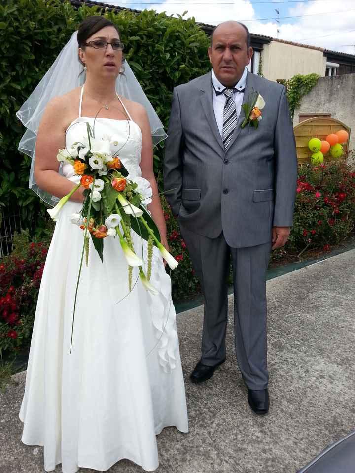 photo de  nous en mariée le jour J
