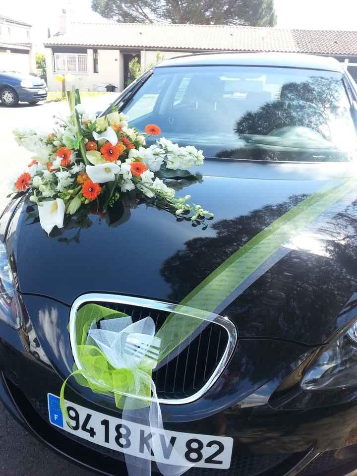 mon dessus de voiture fait par Caro fleurs à frouzins