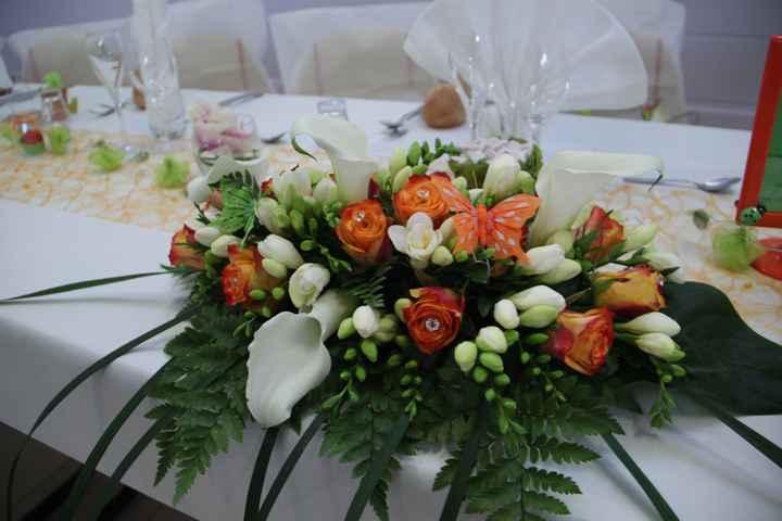 mon centre de table fait par Caro fleurs à Frouzins