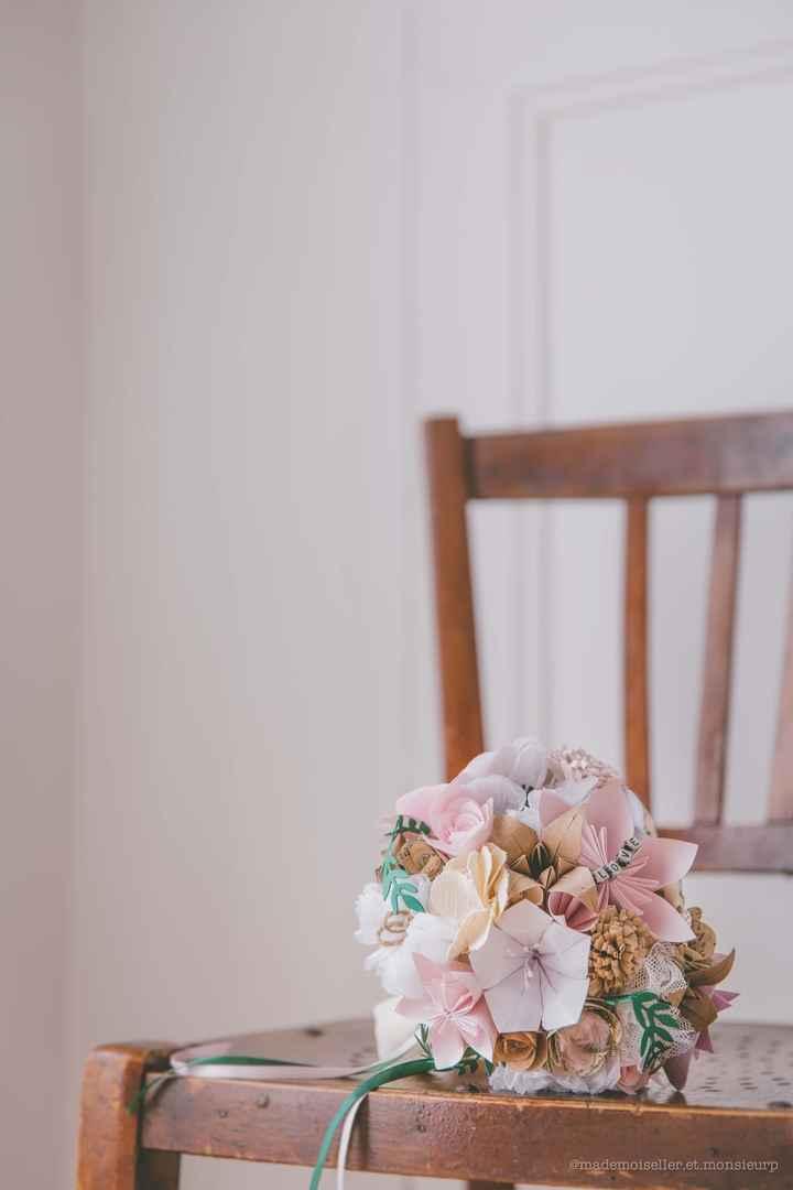 Bouquets de fleurs en papier & tissu - 2