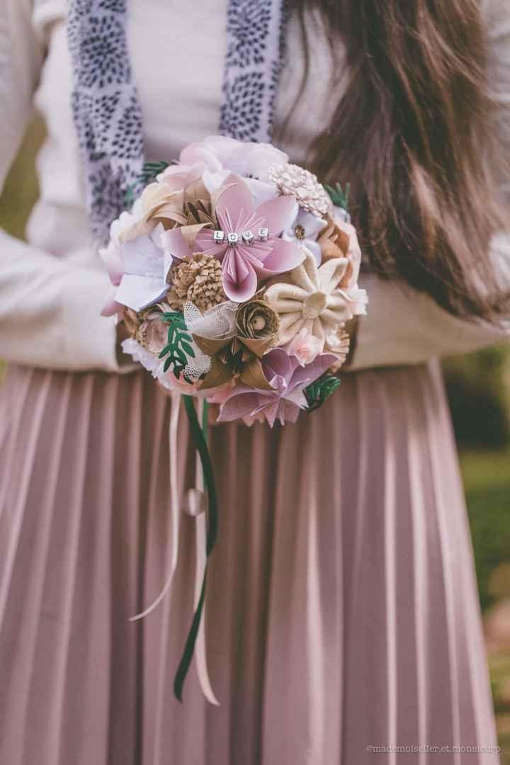 Bouquets de fleurs en papier & tissu - 3