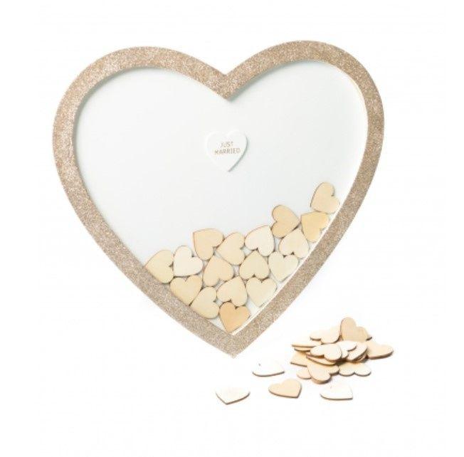 Livre d'or coeur avec cadre