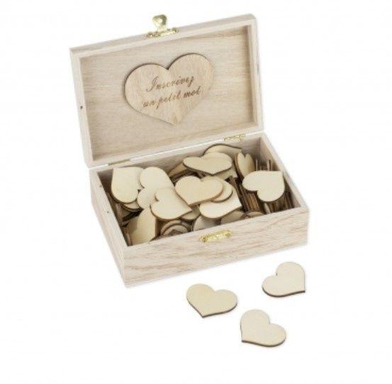 Livre d'or coeur avec boîte