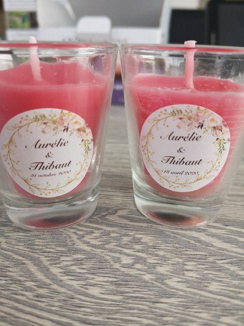 Avant après bougies rose et muguet 1
