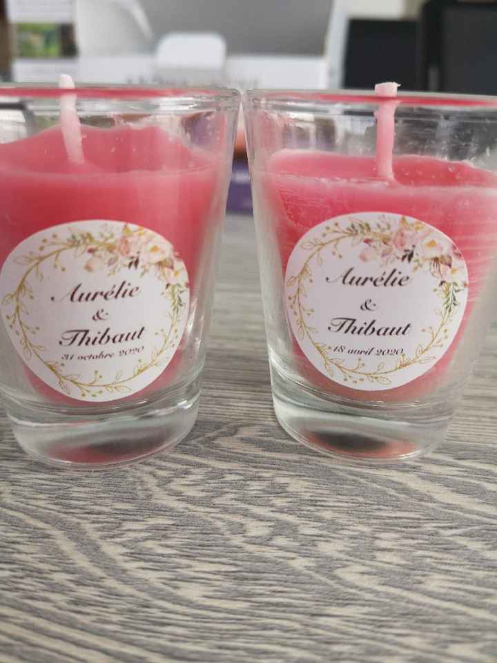 Avant après bougies rose et muguet - 1