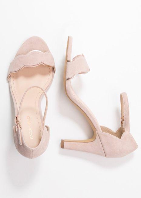 Chaussures mariée rose poudrée 4