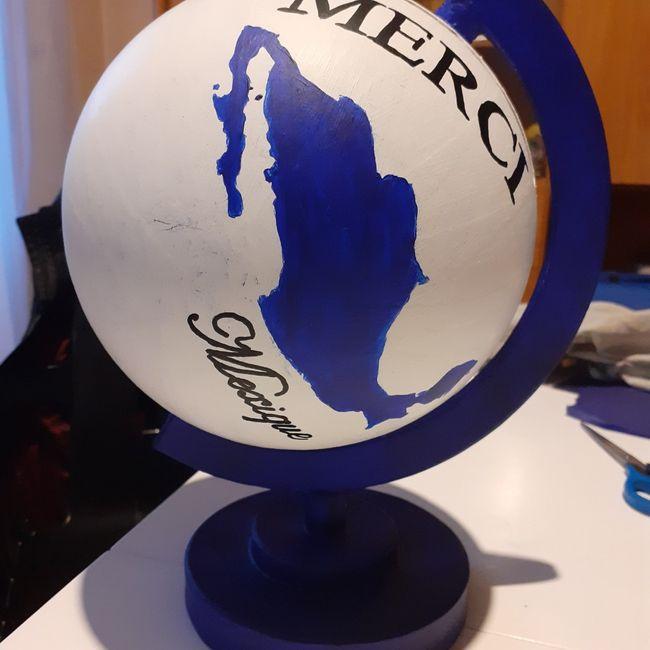 Urne globe en cours 3