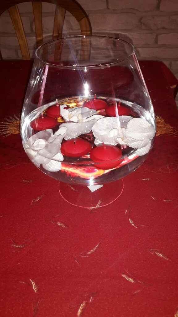 Que pensez vous des vases martini? quel était votre centre de table? - 1
