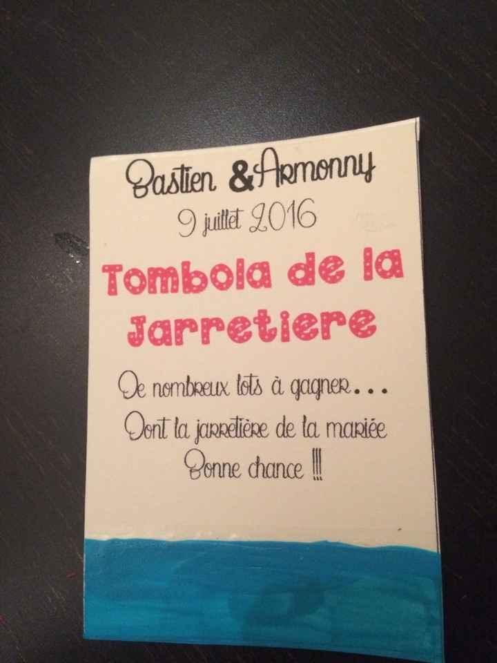 Tombola de la jarretière; mes ticket diy - 2