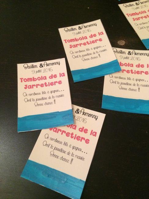 Tombola de la jarretière; mes ticket diy - 1
