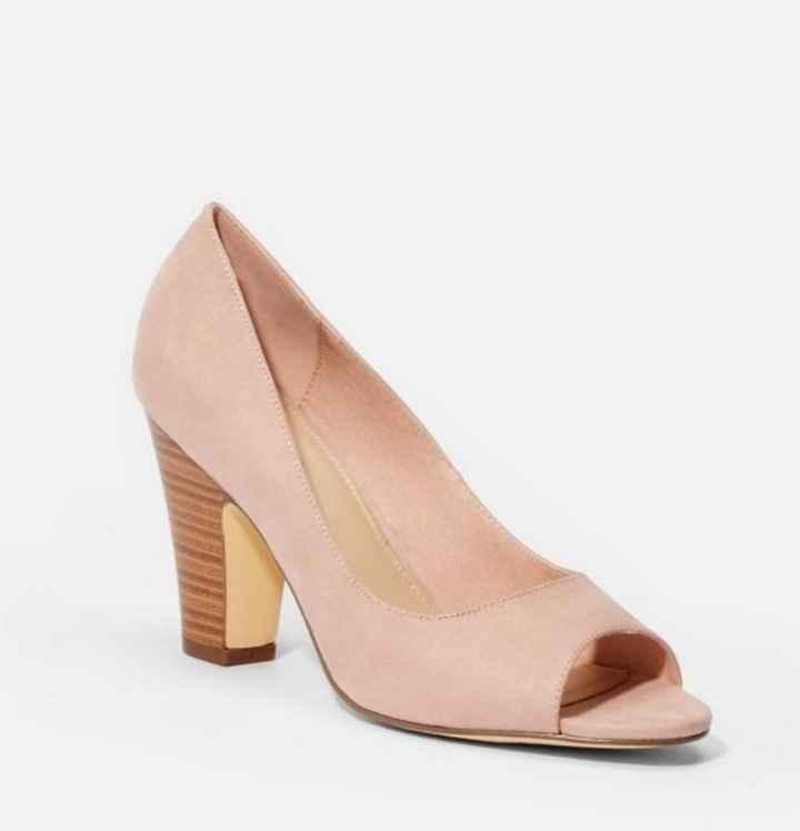 Chaussures mariée rose poudrée - 1