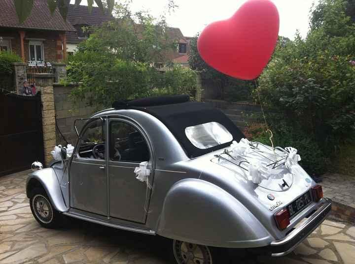 Ballon coeur pour la 2CV