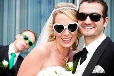 mariés lunettes
