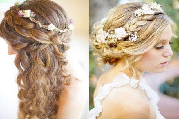 Coiffure mariage cheveux mi long et fin