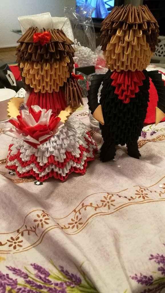 Suite de mon origami marier mariee - 1