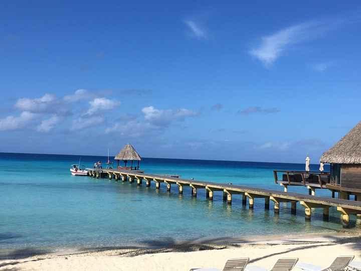 Le bleu de Polynésie, sans trucage