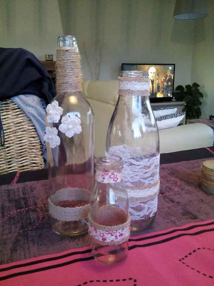 Les bouteilles pour le centre de table - 1