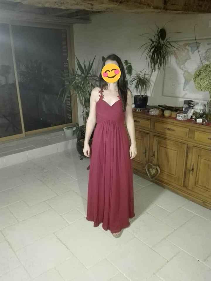 Demoiselle d'honneur 2 : robe de devant