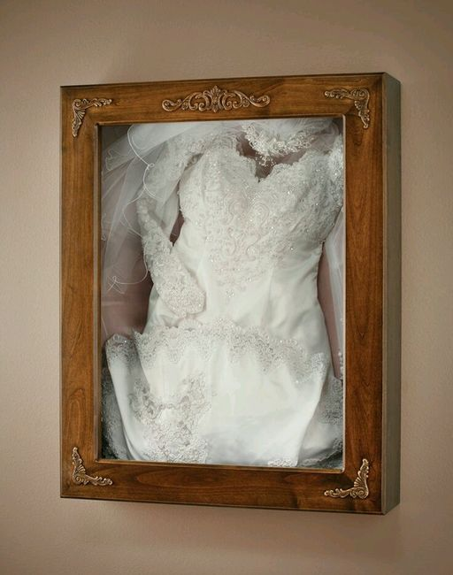 Cadre robe de mari e page 2 apr s le mariage forum for Where to get my wedding dress preserved