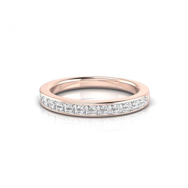 Bague Captivante or rose et diamants