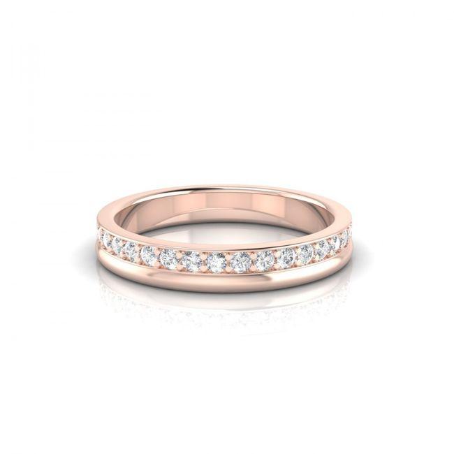 Bague Renversante or rose et diamants