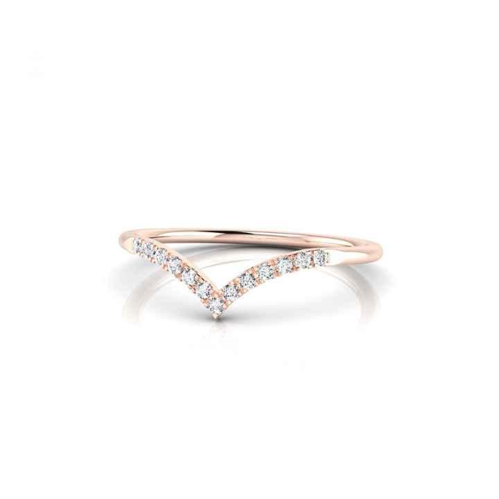 Bague Apollon or rose et diamants