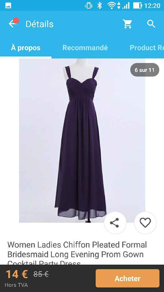 Où trouver des robes de demoiselle d'honneur et témoin pas cher - 1