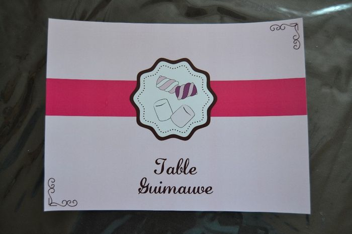 table guimauve