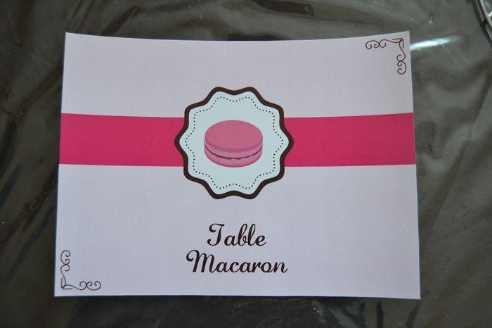 table macaron