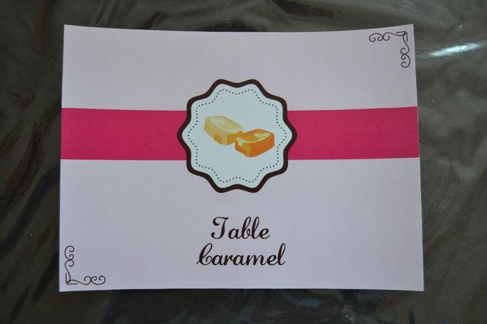 table caramel