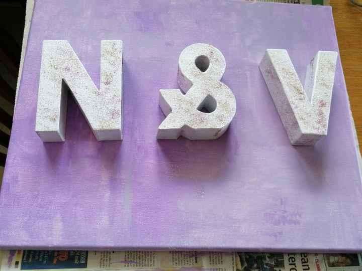 Tableau avec nos lettres en cours - 1