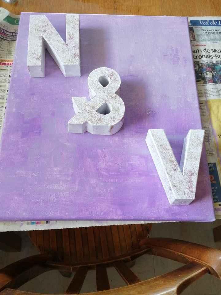 Tableau avec nos lettres en cours - 2