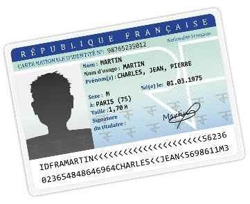 Carte d'identité ordre des noms - 1