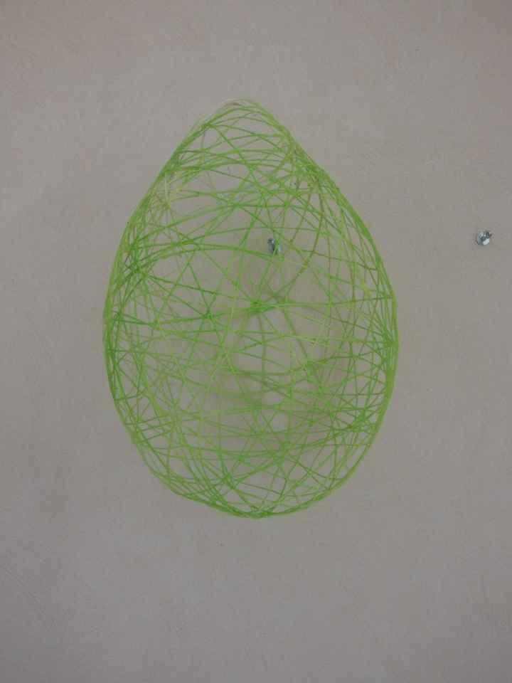 Suspensions au plafond - Sphères en ficelle bombée en vert