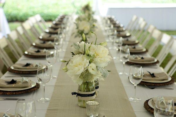 Comment d corer une table rectangle d coration forum - Centre de table rectangulaire mariage ...
