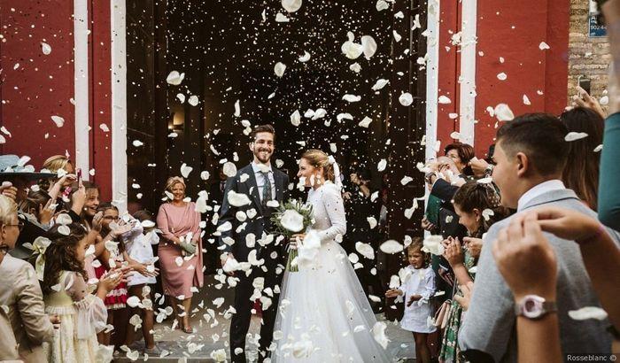 #InstantPhoto : La sortie des mariés  ❤️ 1