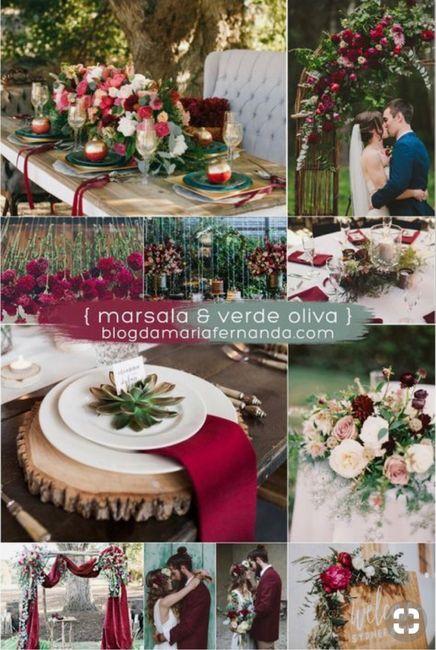 ⭐️ Mariage en couleur [ Lie de Vin / Olive ] ⭐️ 6