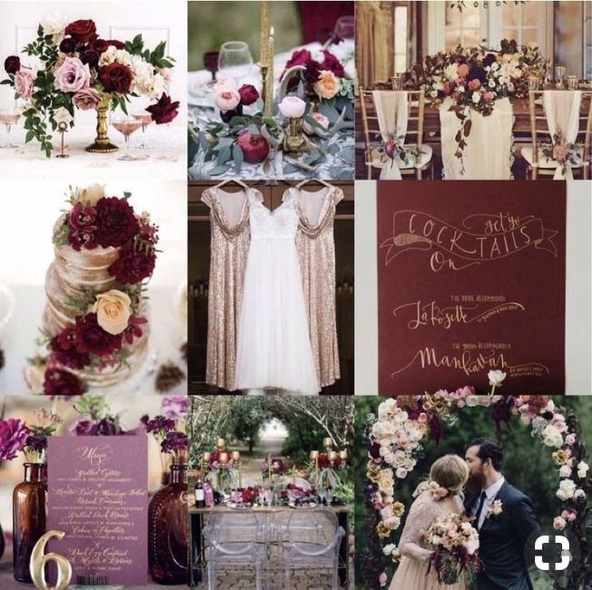 ⭐️ Mariage en couleur [ Lie de Vin / Olive ] ⭐️ 7