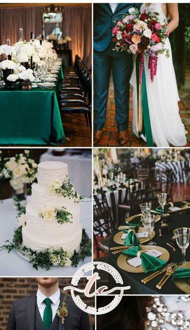 Couleur Vert Emeraude Foncé ⭐️ mariage en couleur [ émeraude / gold