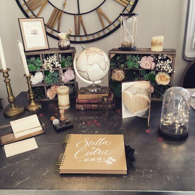 Table urne/livre d'or 1