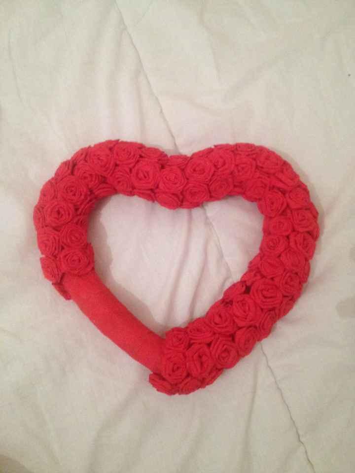 couronne coeur en mini rose