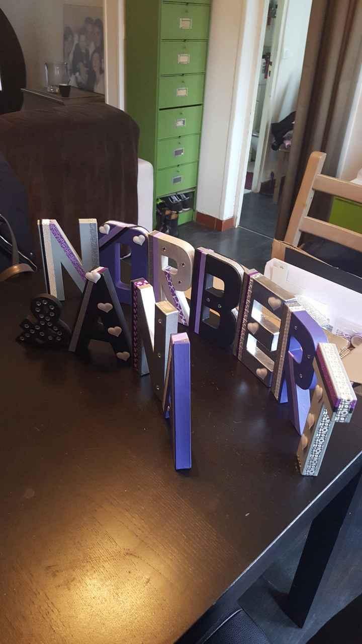 lettres ANA et NORBERT décorés