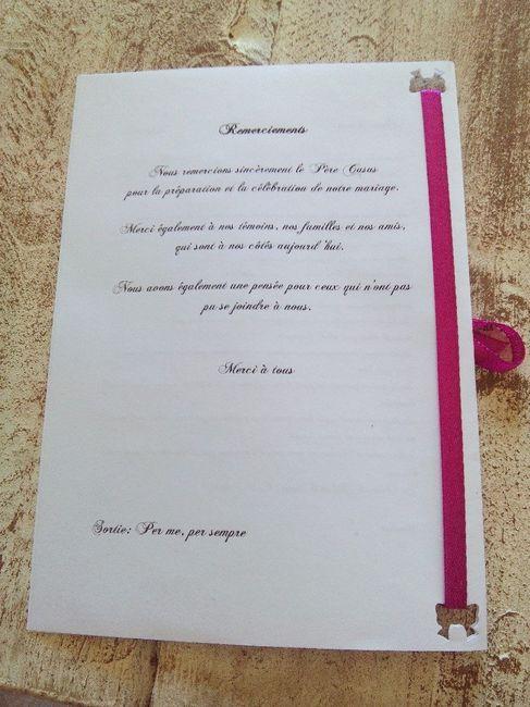Exemple de livret de messe ? - Cérémonie de mariage - Forum Mariages.net