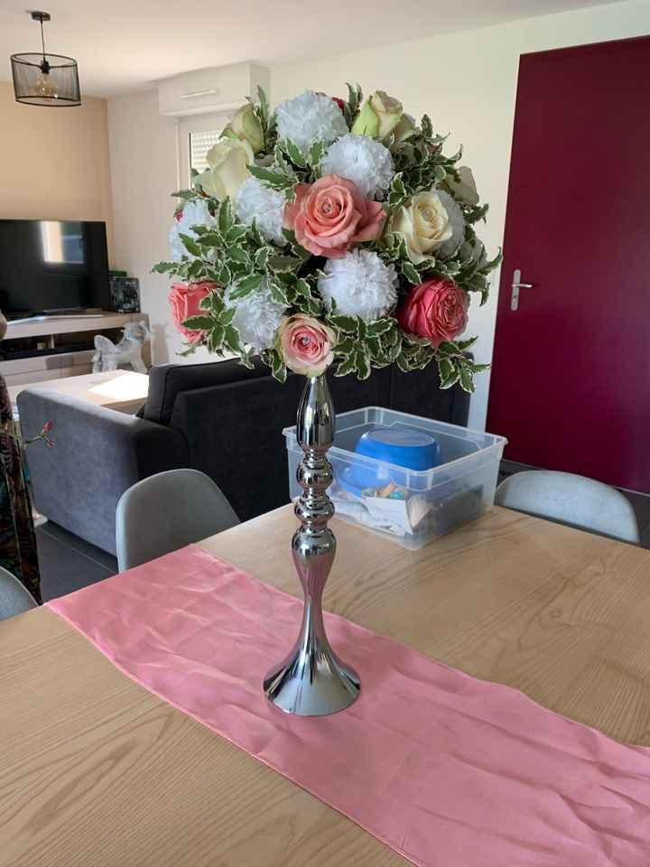 Essai fleurs centres de tables - 1