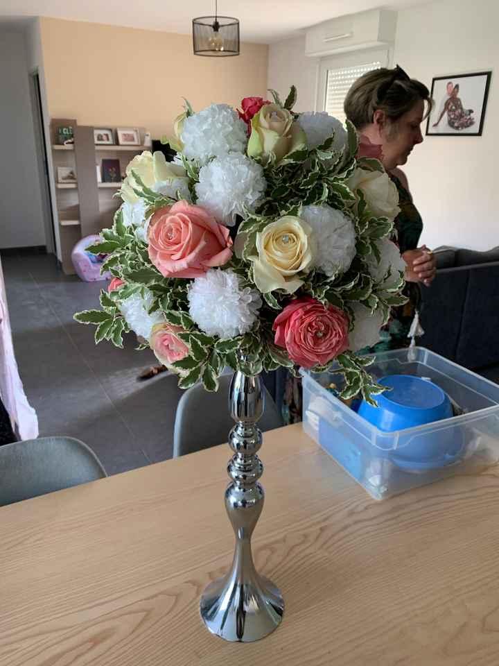 Essai fleurs centres de tables - 2