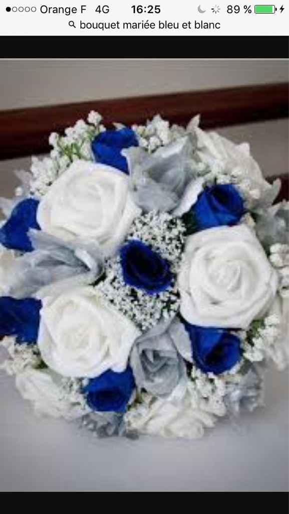 Sélections de bouquet de mariée bleu marine et blanc - 2