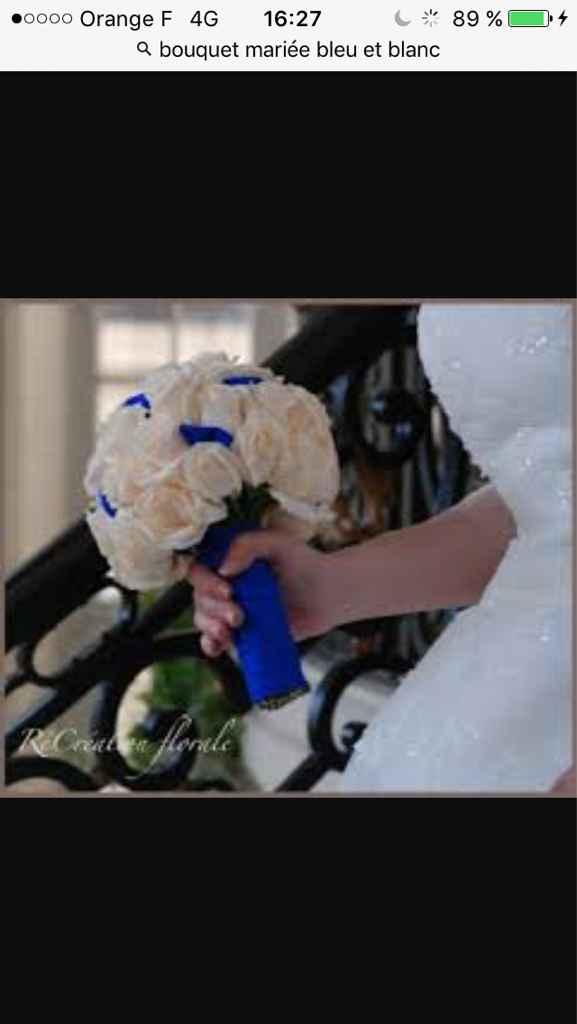 Sélections de bouquet de mariée bleu marine et blanc - 6