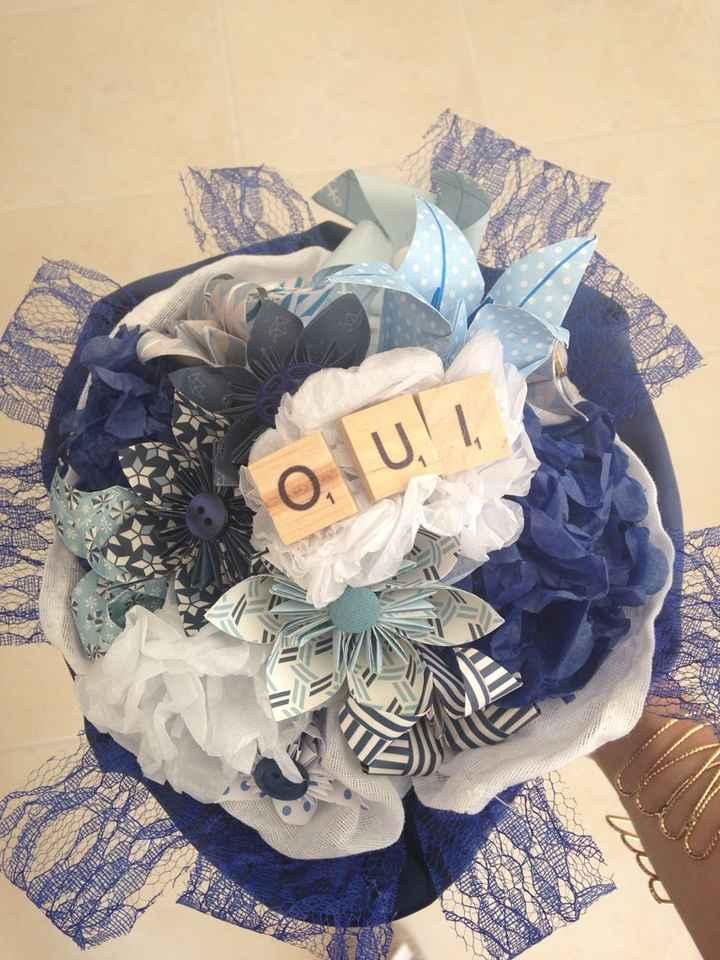 Mon bouquet origami et mes avancées j-42 - 1