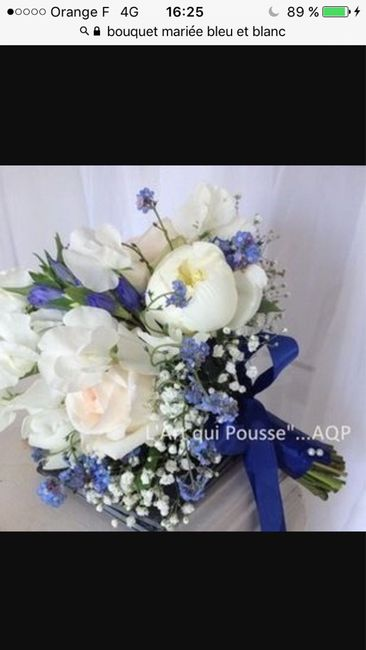 s lections de bouquet de mari e bleu marine et blanc mode nuptiale forum. Black Bedroom Furniture Sets. Home Design Ideas