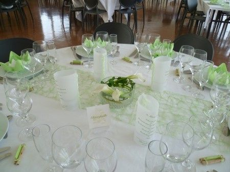déco table avec centre de table